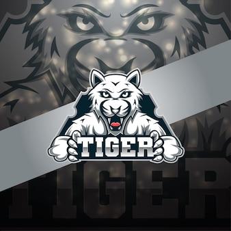 Tijger esport mascotte logo ontwerp