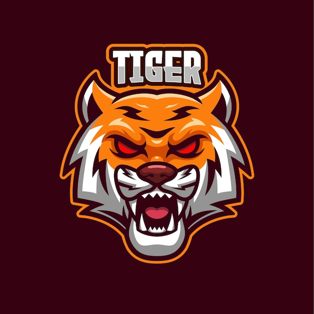 Tijger esports logo mascotte sjabloon