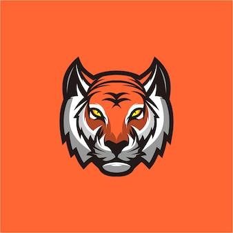 Tijger hoofd logo ontwerp