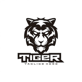 Tijger illustratie mascotte-logo