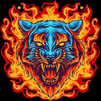 Tijger in brand
