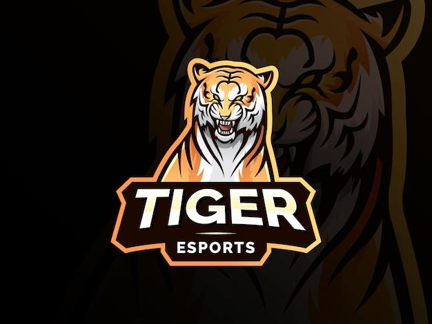 Tijger mascotte sport logo ontwerp