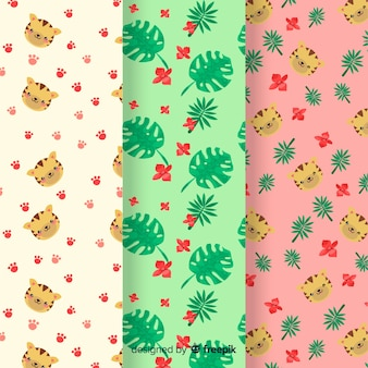 Tijger patroon hand getrokken ontwerp