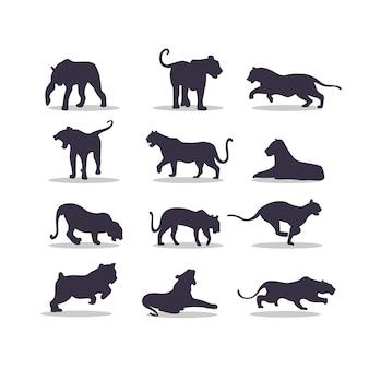Tijger silhouet vector illustratie ontwerp