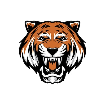 Tijgerkop voor esport-logo