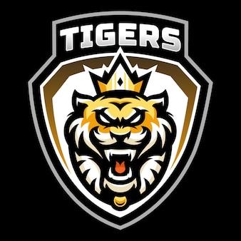 Tijgers mascotte esport logo ontwerp