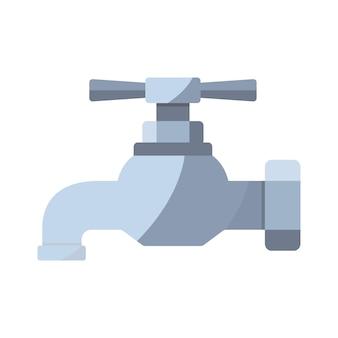 Tik op pictogram kleur kraan in vlakke stijl watervoorziening illustratie voor infographic website of app