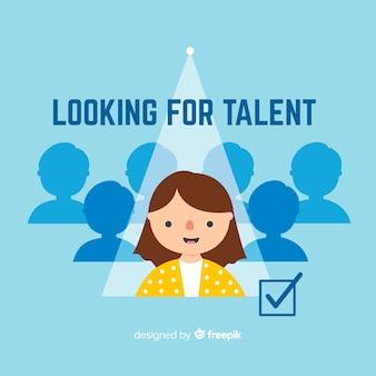 Tik op zoek talent achtergrond