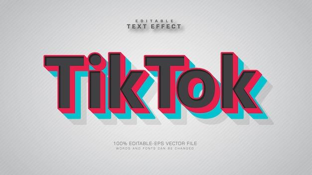 Tik tok-teksteffect