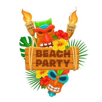 Tiki luau illustratie