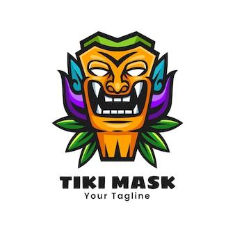 Tiki masker logo ontwerp