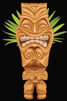 Tiki statue making face