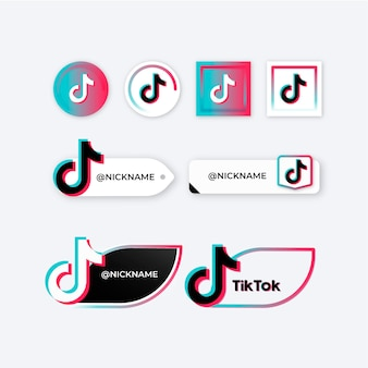Tiktok logo collectie