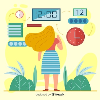 Time management concept illustratie