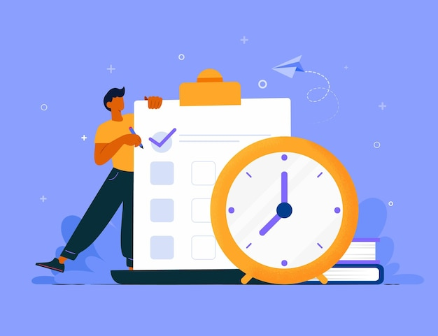 Time management concept talk chart