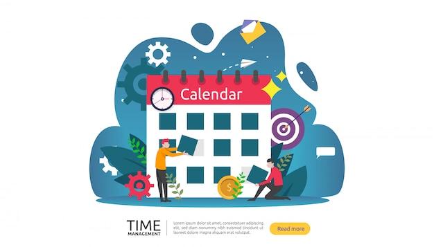 Time management en uitstelgedrag. planning en strategie voor bedrijfsbanner