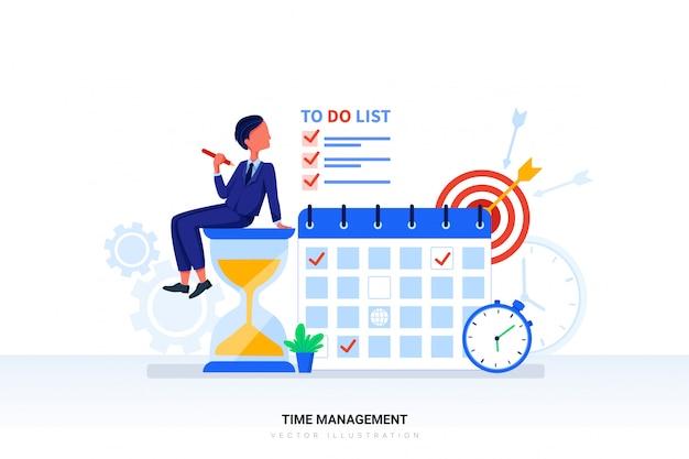 Time management illustratie