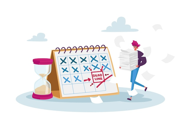Time management in business illustratie