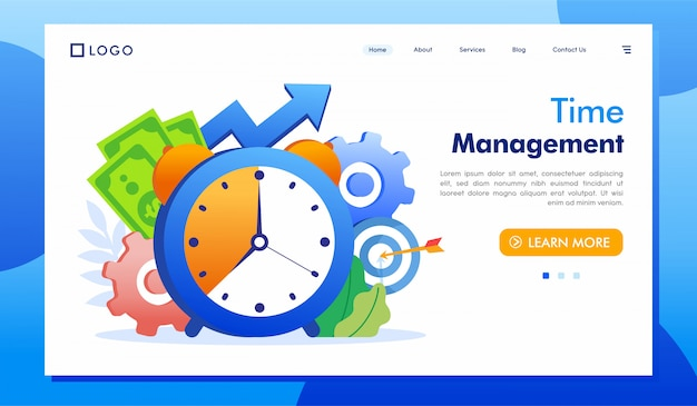 Time management landingspagina website illustratie vector