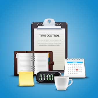 Time management realistisch concept