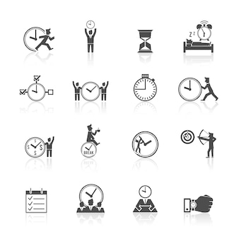 Time pictogrammen collectie