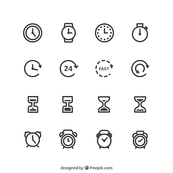 Time pictogrammen