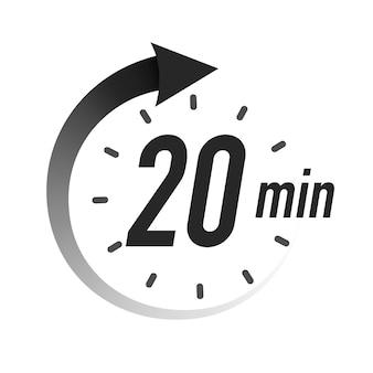 Timer minuten symbool zwarte stijl geïsoleerd op een witte achtergrond klok stopwatch kooktijd label