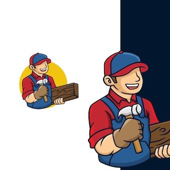 Timmerwerk hout logo