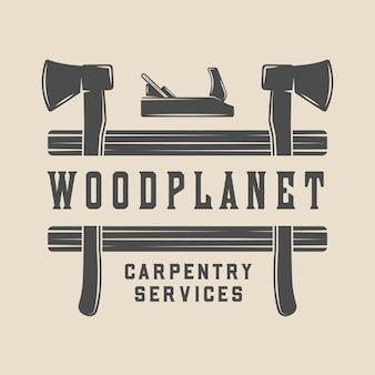 Timmerwerk, houtbewerking badge