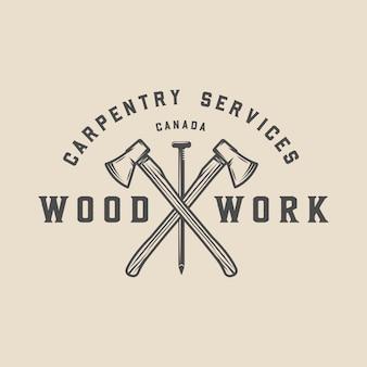 Timmerwerk, houtwerk badge