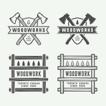 Timmerwerk, houtwerk badges