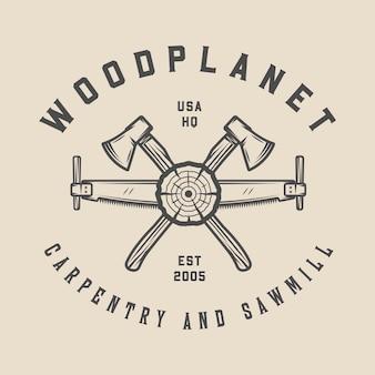 Timmerwerk houtwerk embleem