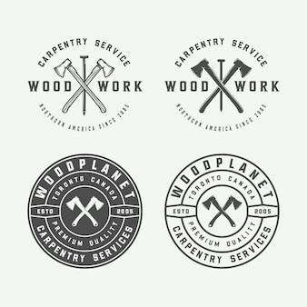 Timmerwerk, houtwerk labels