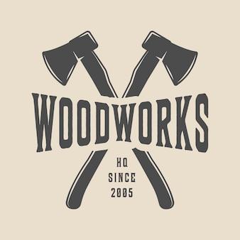 Timmerwerk, houtwerk logo