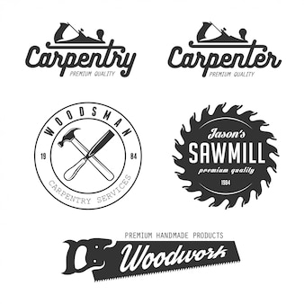 Timmerwerk logo set