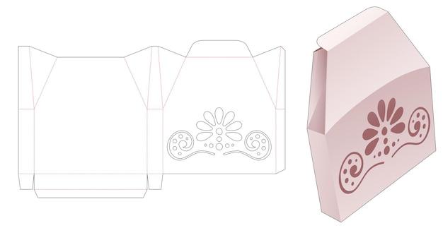 Tin unieke vorm verpakking met gestencilde mandala gestanste sjabloon