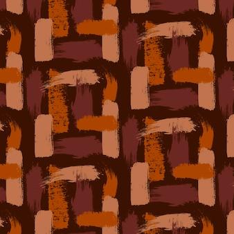 Tinten bruin penseelstreken naadloze patroon