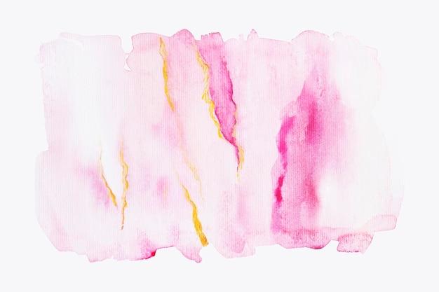 Tinten roze aquarel penseelstreken