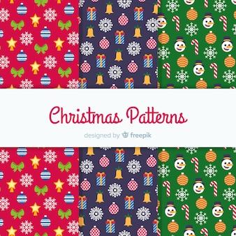 Tiny elementen kerst patroon