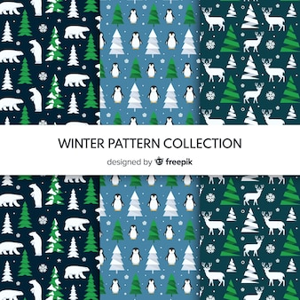 Tiny elementen winter patroon collectie