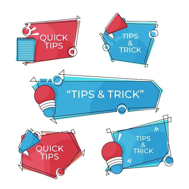 Tips & trucs banner set