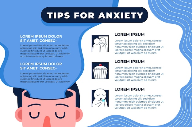 Tips voor angst infographic