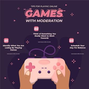 Tips voor het spelen van online concept