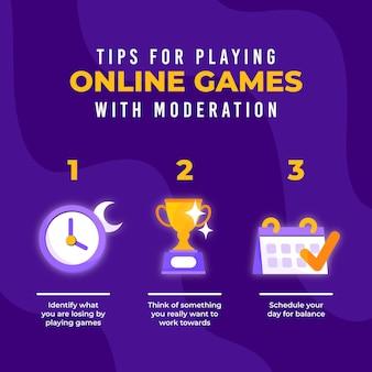 Tips voor het spelen van online games met moderatiesjabloon