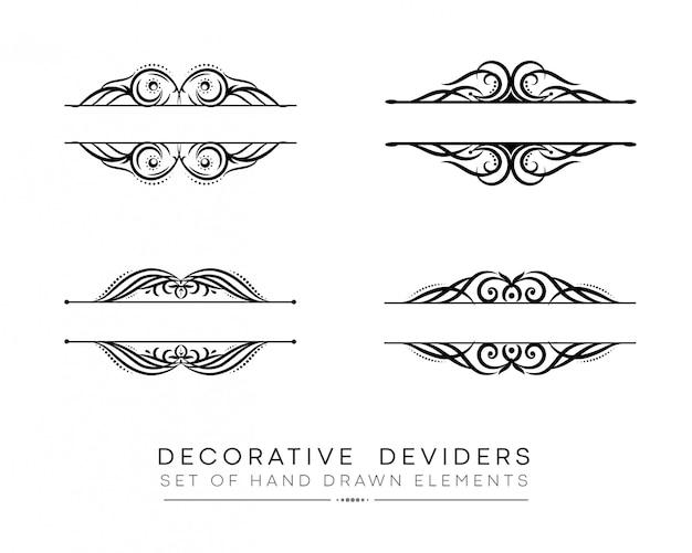 Titel decoratieve ornamenten