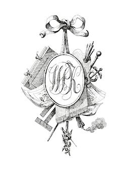 Titelvignet met monogram