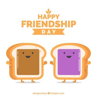 Toast achtergrond van vriendschap dag