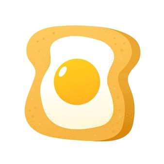 Toast met gebakken ei concep