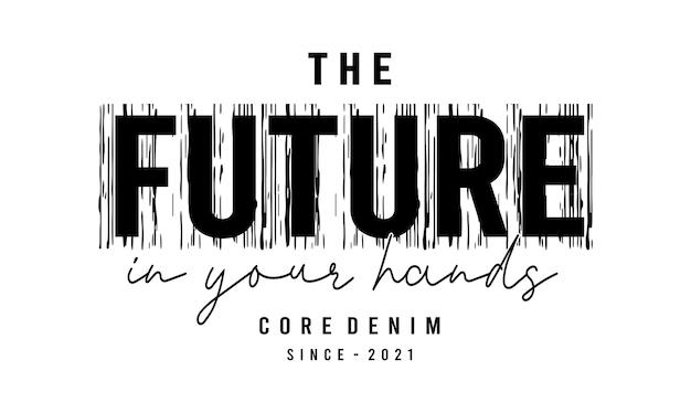 Toekomst in uw handen typografie
