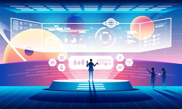 Toekomstig technologieconcept